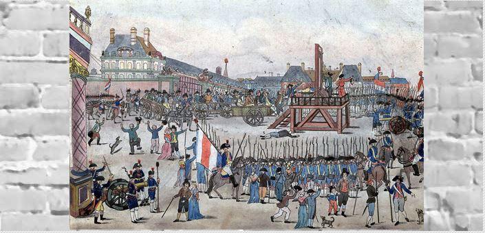 Η εκτέλεση του Ροβεσπιέρου και των συνεργατών του, σε λιθογραφία της εποχής