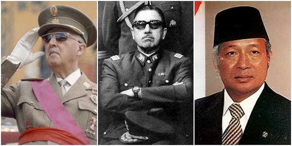 Φράνκο, Πινοσέτ, Σουχάρτο: Τρεις δικτάτορες που έτυχαν της υποστήριξης του Σολζενίτσιν.