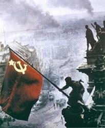 Soviet flag Berlin 1945