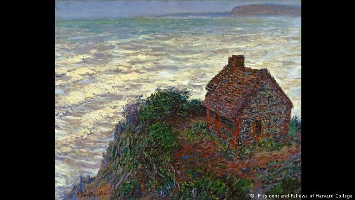 Η αποθέωση της θάλασσας Η «Καλύβα του Τελωνειακού» του Κλωντ Μονέ φιλοτεχνήθηκε το 1882. Στον πίνακα αυτό μπορεί κανείς να εντοπίσει βασικά στοιχεία της ιμπρεσιονιστικής τεχνικής αλλά και κλασικά μοτίβα του σπουδαίου Γάλλου ζωγράφου. Το υγρό στοιχείο κυριαρχεί, όπως και το πράσινο χρώμα. Το φως λούζει το τοπίο δημιουργώντας υπέροχους ιριδισμούς. Ο πίνακας ανήκει στη Συλλογή του Πανεπιστημίου Χάρβαρντ.