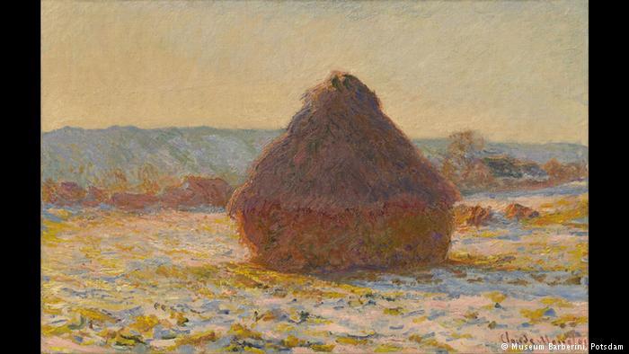 """Εγκαίνια με ιμπρεσιονιστές Ο Κλοντ Μονέ δεν ζωγράφιζε μόνο έργα με νούφαρα αλλά είχε φιλοτεχνήσει και μια σειρά με δεμάτια από στάχια. Το έργο του """"Δεμάτι από στάχια, χιόνι, φως του ήλιου"""" το ζωγράφισε το 1891 και είναι ένα από τα κεντρικά εκθέματα στα εγκαίνια του νέου μουσείου στο Πότσδαμ."""