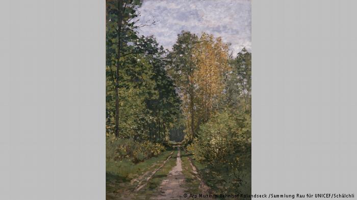 """Ο δρόμος προς το μοντερνισμό Ο Κλοντ Μονέ φιλοτέχνησε το 1865 τον """"Δρόμο στο δάσος"""". Οι πινελιές του είναι φαρδιές. Οι φυλλωσιές των δέντρων φωτίζονται απαλά. Ο γάλλος ζωγράφος θεωρείται πρόδρομος του μοντερνισμού"""