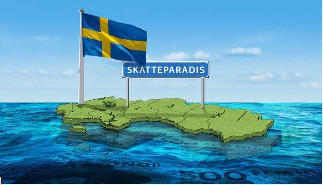 Φορολογικός Παράδεισος μας λέει η φωτογραφία παρομοιάζοντας την Σουηδία με τα εξωτικά νησιά