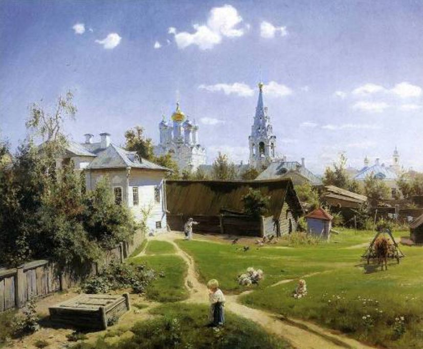 Μοσχοβίτικη αυλή, 1878, έργο του Β. Π., για πολλούς το αριστούργημα του.