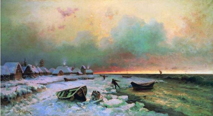 Ιούλιος Κλέβερ (1850-1924) Ένα χωριό στο νησί Νάργκεν