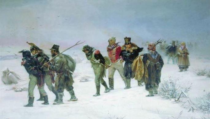 Ιλαρίων Πριανίσνικοφ Παγετός- Η φυγή των Γάλλων.( Να θυμηθούμε: 400.000 Γάλλοι  στρατιώτες του Ναπολέοντα χάθηκαν στα Ρώσικα χιόνια το 1812).