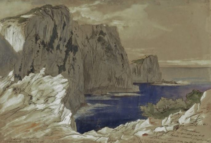Λευκάδα. Ένα από τα 5 έργα του Ε.Λ., με θέμα την Λευκάδα στην έκθεση της Κέρκυρας