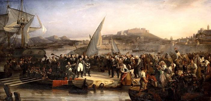 Ο Ναπολέων αφήνει τον Έλβα