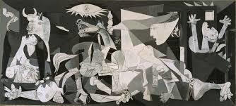 Ο γνωστός πίνακας του Πικάσο που απεικονίζει την Ναζιστική θηριωδία του βομβαρδισμού της πόλης Γκουέρνικα το 1937.