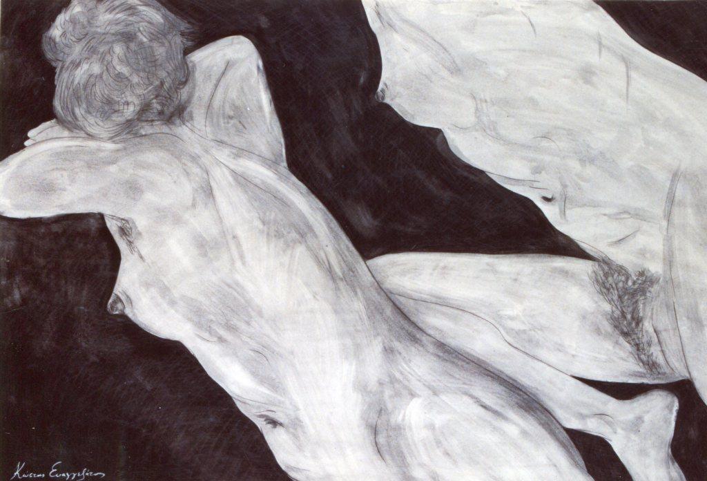 COSTAS EVANGELATOS ART, NUDE WOMEN