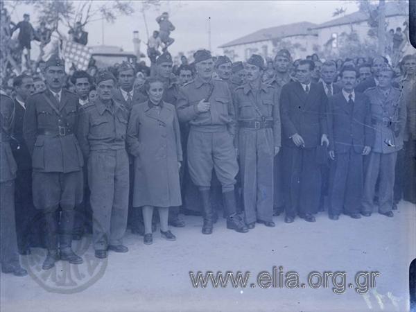 Η Ευτυχία Μουρίκη, ο καπετάν Νέστορας, ο στρατηγός Μάντακας και άλλοι αγωνιστές του ΕΛΑΣ