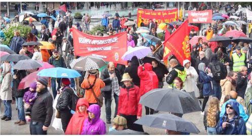 Συγκέντρωση ενάντια στην Σουηδική άσκηση ΑΟΥΡΟΡΑ όπου συμμετείχαν και Νατοικές δυνάμεις