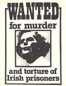 Αφίσα του 1981 ενάντια στην πολιτική Θάτσερ απέναντι στους ιρλανδούς αγωνιστές-απεργούς πείνας.