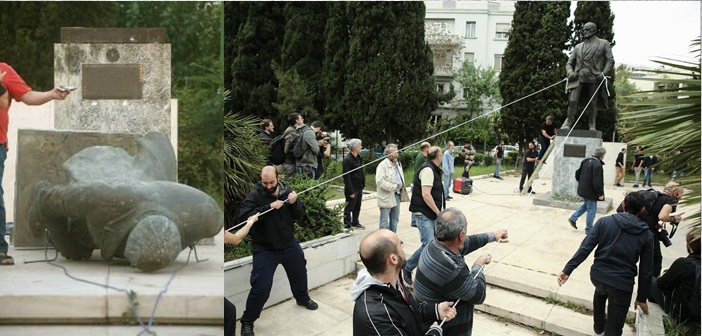 Τους «έτσουξε» η πρωτοβουλία για το γκρέμισμα του αγάλματος Τρούμαν