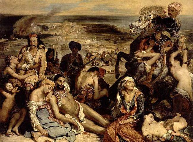 Σκηνή από τη «Σφαγή της Χίου»