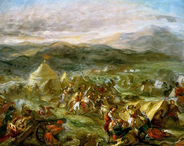 «Ο Μπότσαρης αιφνιδιάζει τους Τούρκους στο στρατόπεδο τους»