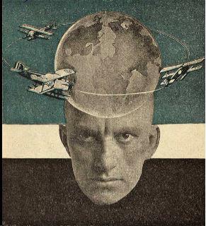 Το οπισθόφυλλο βιβλίου του Mayakovsky που δημοσιεύθηκε το 1926. Φωτομοντάζ του Αλεξάντρ Ρότσενκο