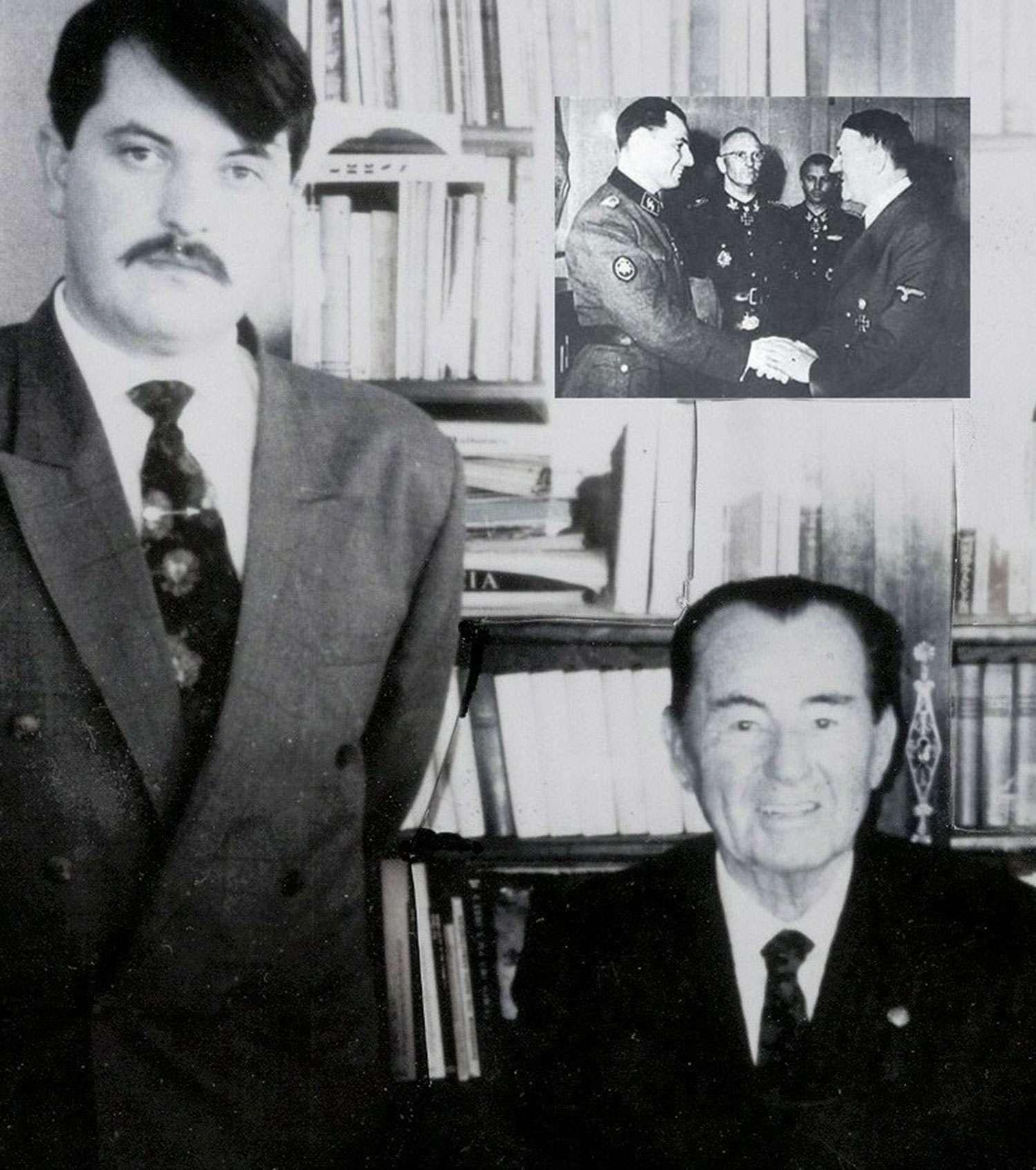 Πάνω δεξιά, η παρασημοφόρηση του Λ. Ντεγκρέλ από τον σφαγέα των λαών Χίτλερ