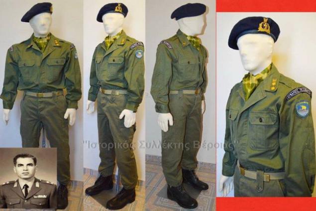 Η στολή του Γ.Ντουζέπη, δεξί χέρι του πραξικοπηματία Δ.Ιωαννίδη.