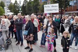 Διαδήλωση διαμαρτυρίας στην πόλη Sollefteå.
