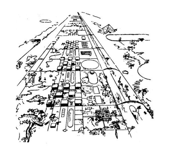 Σχέδιο του Leonidov για το Magnitogorsk, 1929