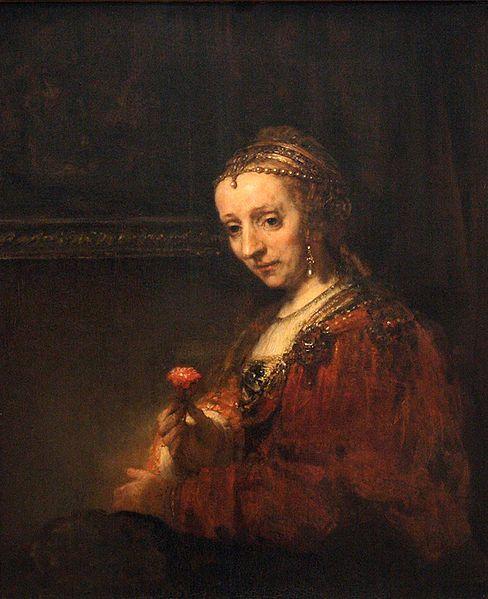 Προσωπογραφία γυναίκας με γαρύφαλλο (πιθανόν η Lysbet Jansdr Delft