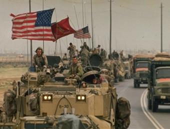 Αμερικανικά στρατεύματα στο Κουβέϊτ, 1991.