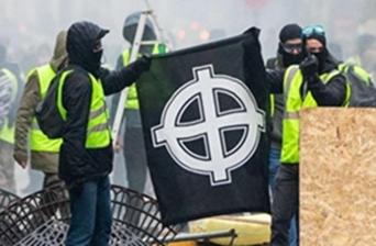 """Φασιστικά σύμβολα έκαναν ήδη την εμφάνιση τους στις διαδηλώσεις των """"κίτρινων γιλέκων""""."""