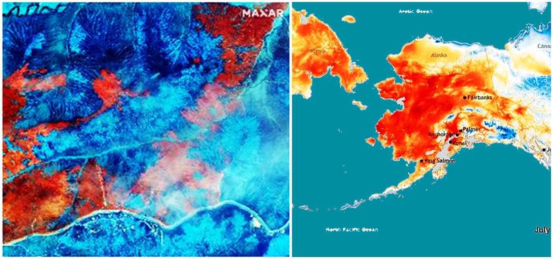 πυρκαγιές από Αλάσκα μέχρι Σιβηρία
