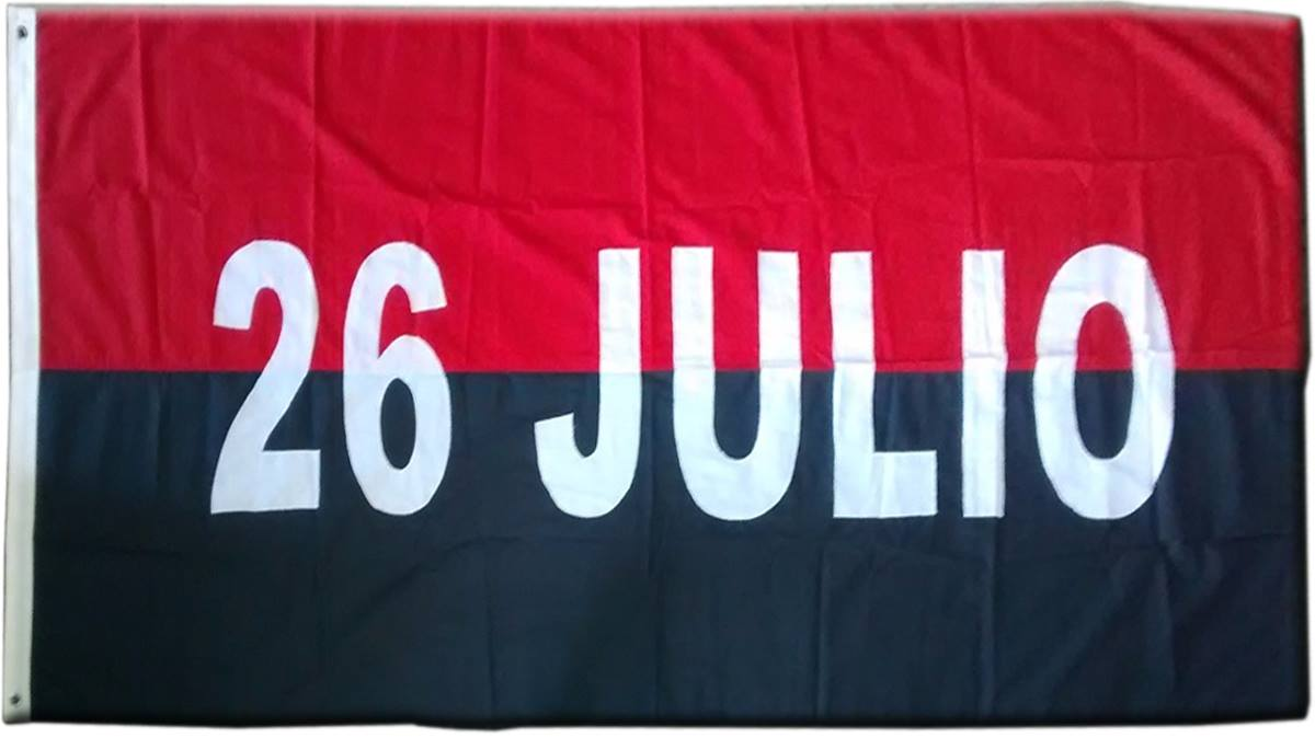 La bandera de Cuba Movimiento 26 de Julio