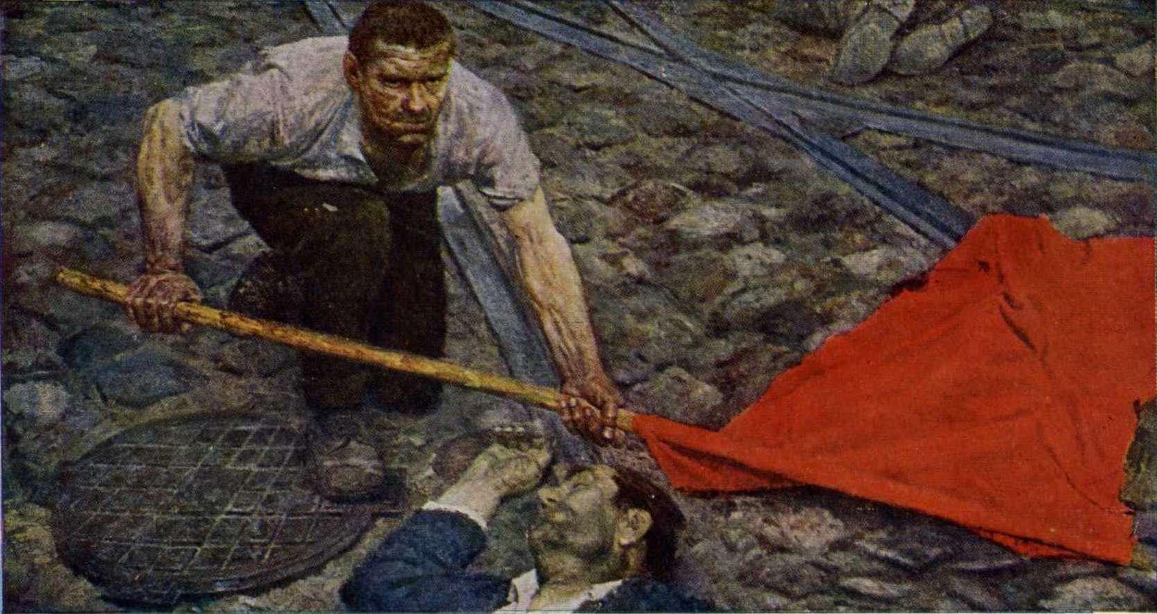 Триптих_Коммунисты._Поднимающий_знамя_(центральная_часть)._1959-1960г