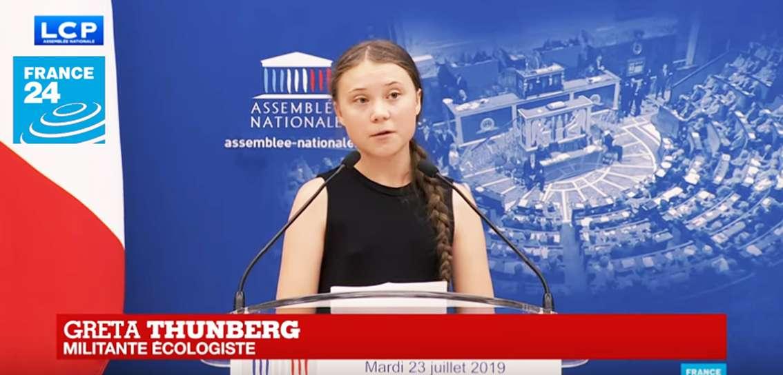 Le discours de GRETA THUNBERG à lAssemblée nationale française