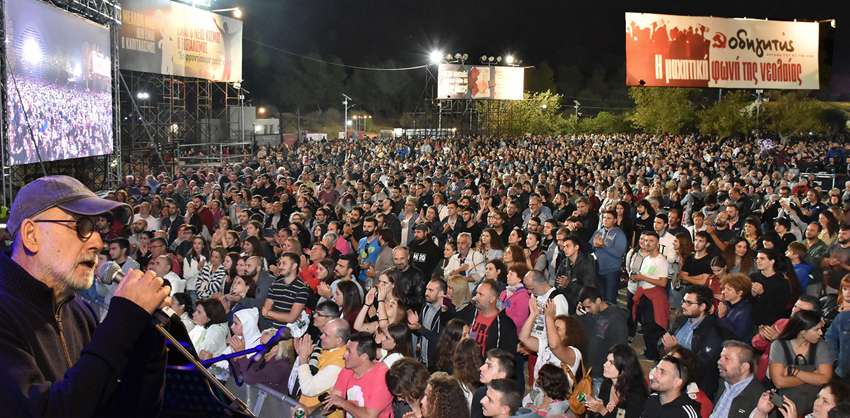 Θ. ΜΙΚΡΟΥΤΣΙΚΟΣ: Μια μοναδική κατάθεση ψυχής στην Κεντρική Σκηνή του 45ου Φεστιβάλ ΚΝΕ-ΟΔΗΓΗΤΗ