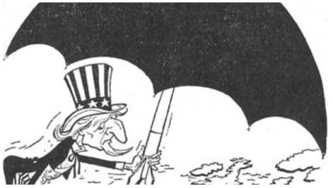 1947 O μπάρμπα Σαμ προσφέρει ομπρέλα προστασίας στην Ευρώπη