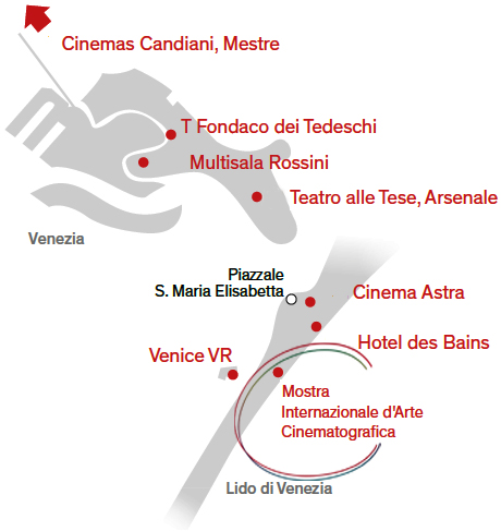 Mostra Internazionale dArte Cinematografica di Venezia Χάρτης 2