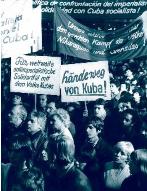 Συγκέντρωση αλληλεγγύης στη ΓΛΔ, στη σοσιαλιστική Κούβα 1981