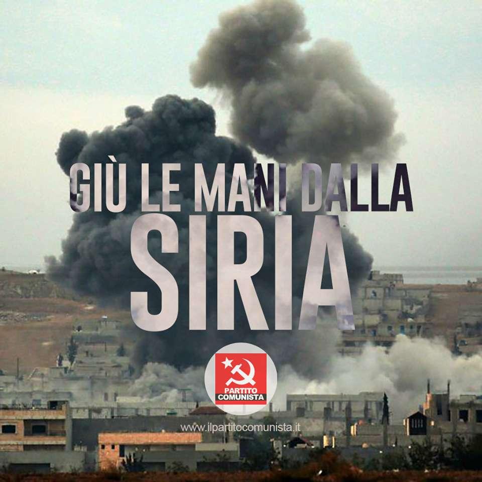 PCI Giù le mani dalla Siria