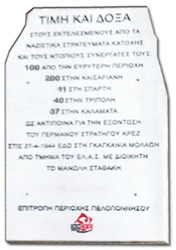 Μνημείο Γκαγκανιά Μολάων Λακωνίας ΚΚΕ 100Χ ΕΑΜ – ΕΛΑΣ 1