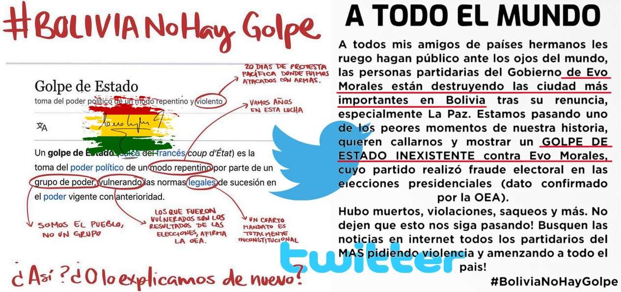 4500 λογαριασμοί Twitter στην υπηρεσία νομιμοποίησης του πραξικοπήματος στη Βολιβία