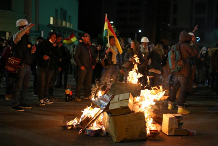 Bolivia διαδηλώσεις