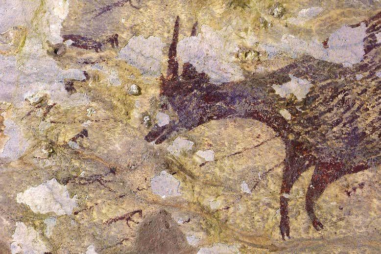 Ινδονησία βραχογραφία 43.900 ετών η αρχαιότερη σκηνή κυνηγιού στον κόσμο