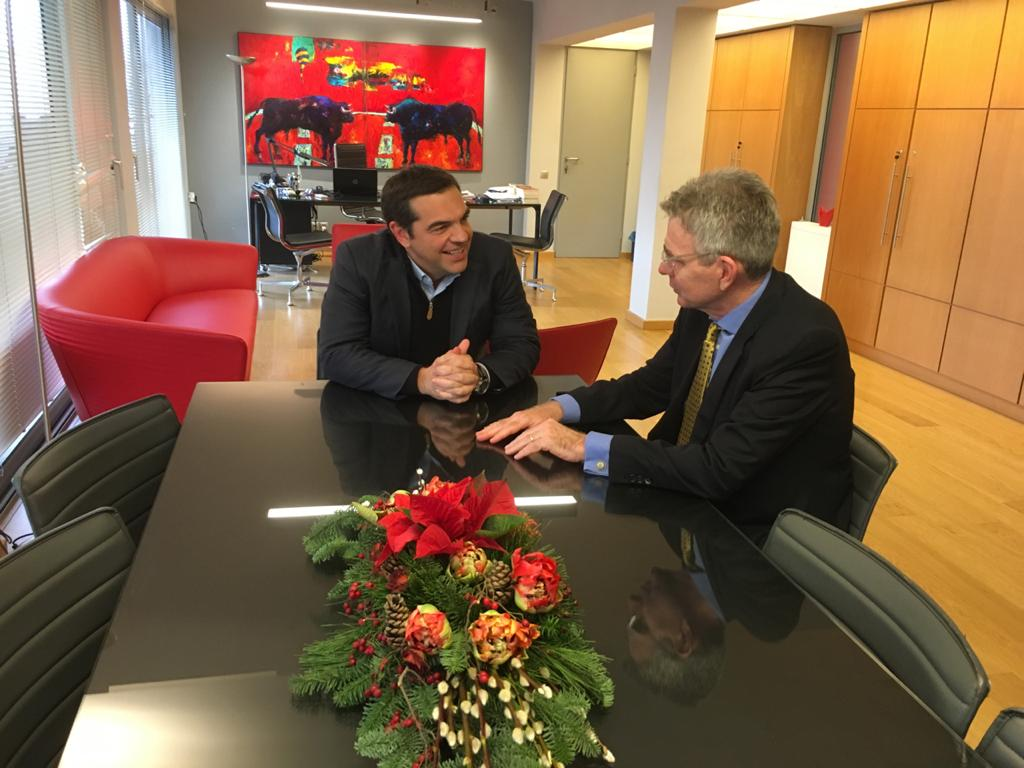 Geoffrey Pyatt @USAmbPyatt Glad to meet with @atsipras