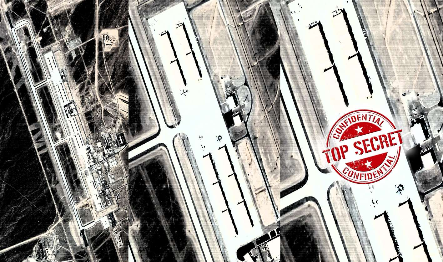 Satellite photo secret US air base