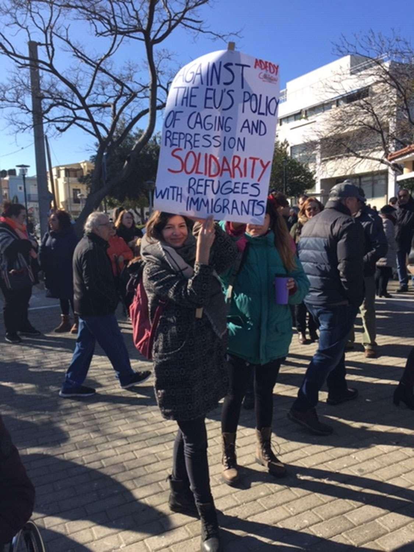 ΣΑΜΟΣ ΧΙΟΣ Συγκεντρώσεις ενάντια στην πολιτική του εγκλωβισμού και της καταστολής προσφύγων και μεταναστών 2