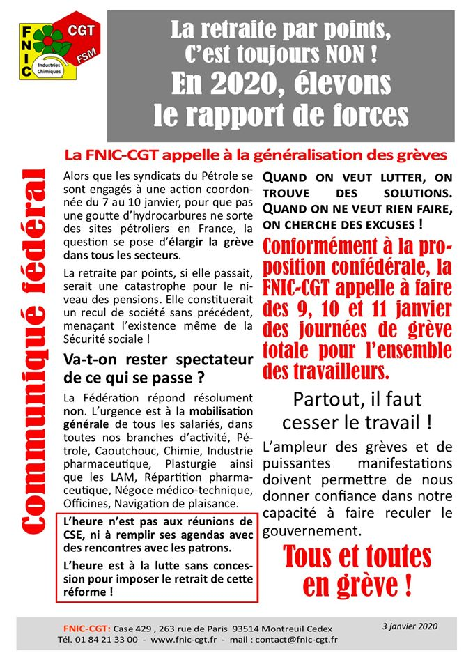 Fédération des travailleurs de lindustrie chimique FNIC 1