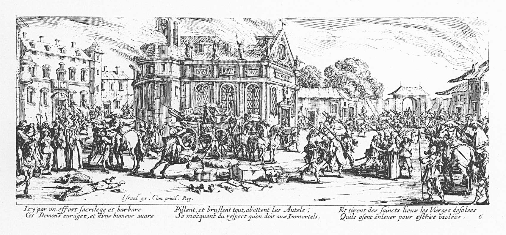 Les misères et les malheurs de la guerre 06 Dévastation d un monastère