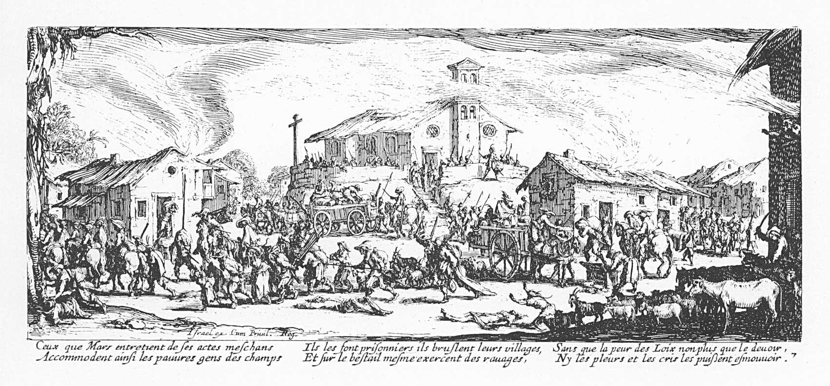 Les misères et les malheurs de la guerre 07 Pillage et incendie dun village