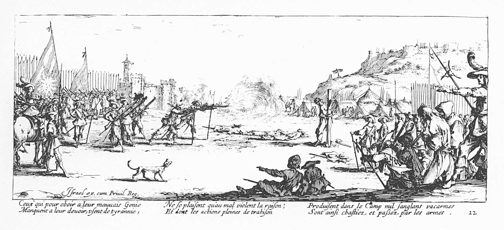 Les misères et les malheurs de la guerre 12 Larquebusade