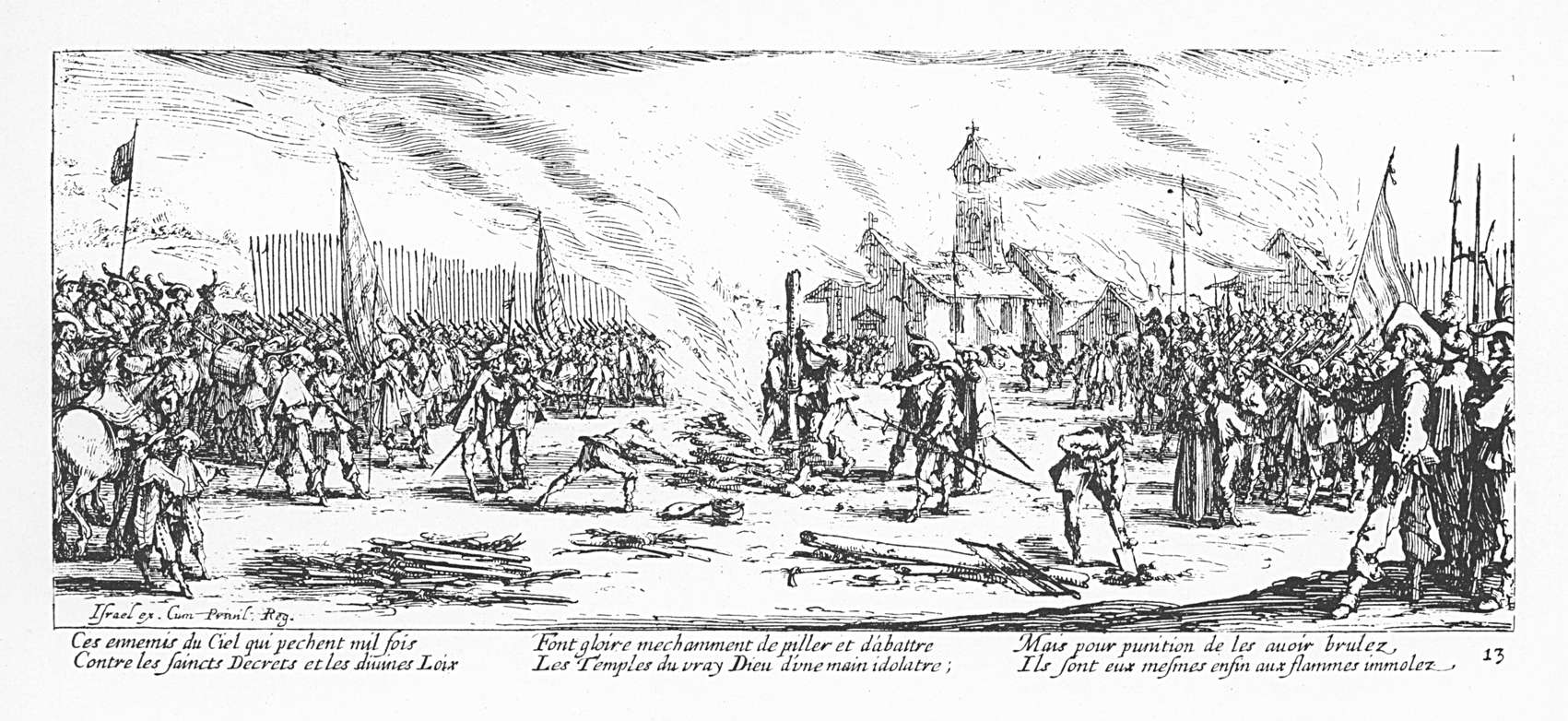 Les misères et les malheurs de la guerre 13 Le bûcher
