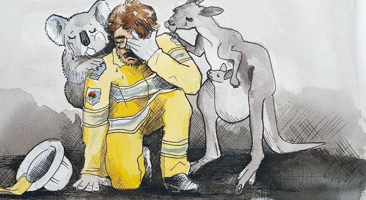 Πυρκαγιές Αυστραλία: Θύματα της απληστίας του συστήματος δεν είναι μόνο οι άνθρωποι (5 σκίτσα)